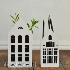 komplet 2szt - domki pojemniki na kredki kubki dekoracja, domki, domek, kubek