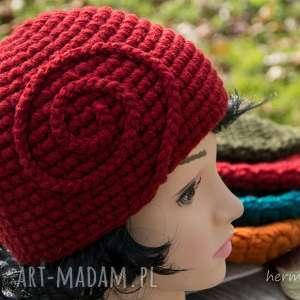 Czapka handmade, czapka, wełna, zrobiona-na-szydełku, szydełkowe, ciepła