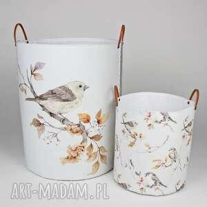komplet dwóch pojemników z ptaszkiem, ptak, dladzieci