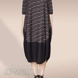 dzianinowa sukienka we wzór, wzorek, motyw, luźna