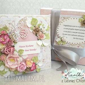 scrapbooking kartki zamówienie indywidualne, kartka, życzenia, pożegnanie