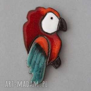 magnesy papla-magnes ceramika, kolekcjoner, kolor, energia, papuga, pozytywny