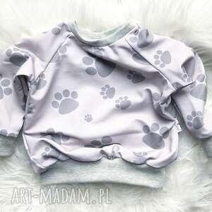 Bluza dresowa dla dziecka łapki slow village dziecka,