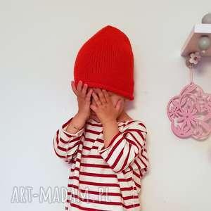 dziecięca czapka, dzieci, wiosenna, wełniana, na drutach