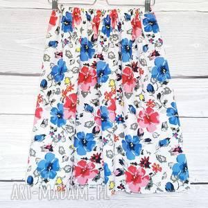 Delikatna spódnica kwiaty , kwiaty, kwiecista-spódnica, delikatna, z-kieszeniami