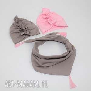 komplet 2 turbany i apaszka, turban, pod choinkę prezenty