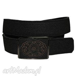 hand-made paski haft koronki na klamrze filcowego paska