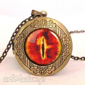 oko saurona - sekretnik z łańcuszkiem - sekretnik, medalion, oko, sauron
