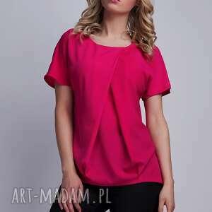 lanti urban fashion bluzka, blu121 fuchsia, top, koszulka, lekka, amarantowa