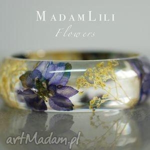 prawdziwe kwiaty bransoletka , biżuteria, berlin, kwiaty, natura