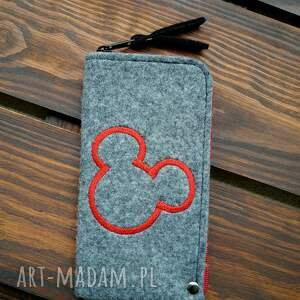 filcowe etui na telefon - myszka, smartfon, pokrowiec, futerał, prezent, miki
