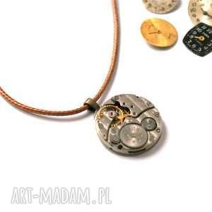 Naszyjnik z mechanizmem brązowy, mechanizm, werk, industrialny, unisex, steampunk