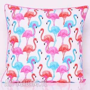 wyjątkowy prezent, poduszka flamingos 50x50cm, flaming, flamingi