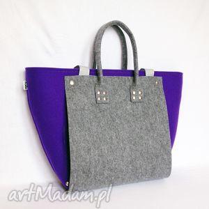totostyle nowość wiosna 2013 officefelt premium - torba na laptop fiolet szary, filc