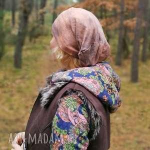 czapka unisex farbowana bawełna dzianina damsko - czapka, dzianina, sportowa