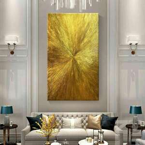 artistic gold - wielkoformatowy obraz na płótnie abstrakcyjny