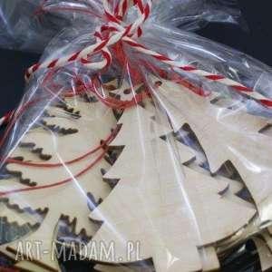 ozdoby świąteczne drewniane choinki 10 szt, choinki, drewniane, sklejka