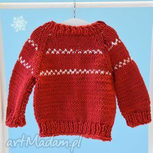 Sweterek Rudolfa. Ubranko dla lalki, misia ok. 40 cm