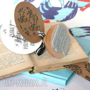 ex libris stempel pieczątka ptaszki etno, ptak, etniczny, ludowy, zakochani, etno