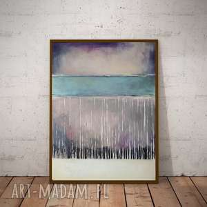 ABSTRAKCJA - obraz akrylowy formatu 40/50 cm, płótno,