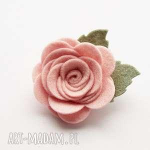 spinka do włosów różyczka pudrowy róż, spinka, ozdoba, włosów