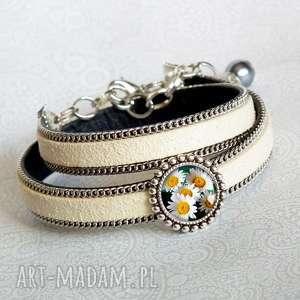 stokrotki urocza elegancka bransoletka, idealny-prezent, na-urodziny, podarek