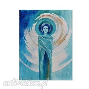anioł orfiel, obraz ręcznie malowany, obraz, anioł, ręcznie