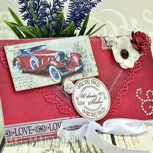 kopertówka ślubna- limuzyną ku miłości - kartka, ślub, ślubna