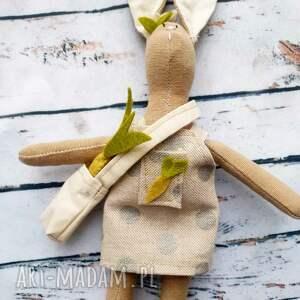 ręcznie robione maskotki mały królik z warzywami zestaw do zabawy