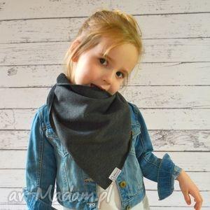 chusteczka apaszka dla dzieci dresowa grafitowa , bawełna, dzianina, wiosna, eko