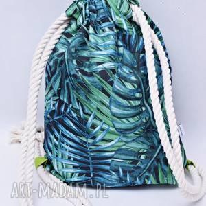ręcznie zrobione workoplecak wodoodporny, plecako worek, worek ze sznurami, plecak