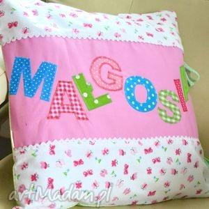 bawełniana poszewka na poduszkę z imieniem dziecka - imię