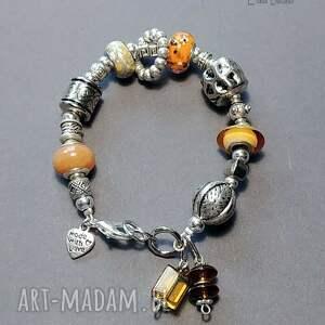 urocza bransoletka w duchu biżuterii pandora, miły prezent handmade, pandora