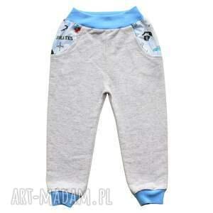 piraci spodnie dla chłopca, bawełniane spodnie, 68-116, dresowe, długie