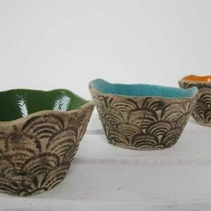 Zestaw 3 energetycznych miseczek ceramika ana miseczki, zestaw