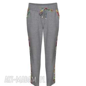 spodnie alina 7711 rozm xs s m l xl xxl, z lampasami, folk