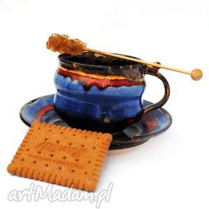 filiżanka z talerzykiem- jt 129, filiżanka, talerzyk, zestaw, ceramika, użytkowe