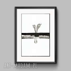 obraz malowany ręcznie 30 x 40 cm, do salonu, minimalizm