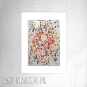 oryginalna abstrakcja na ścianę, nowoczesna grafika do biura, ładna dekoracja