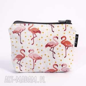kosmetyczka mała flamingi, kosmetyczka, sszetka, flamingi