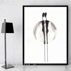art krystyna kokot ręcznie malowany minimalizm, rysunek tuszem cykl about real