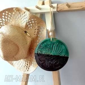 ceramika koło, ceramika, ceramiczne, drzewo, wisiorek, wisior