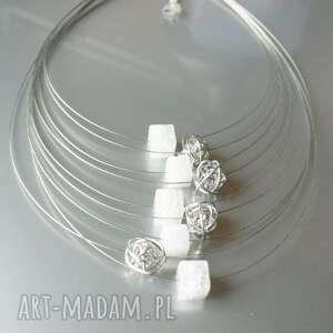 naszyjnik kryształ lodowy - naszyjnik, kamień, kryształ, lodowy, linki