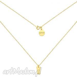złoty naszyjnik z shakerem - łańcuszek, zawieszka, modny