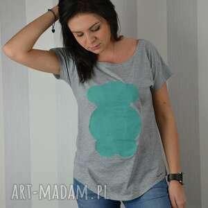 koszulki koszulka ręcznie malowana - miś turkusowy od fresh lemon, ciekawa