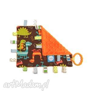 szmatka sensoryczna gryzak - zabawka, sensoryczna, szmatka, dinozaury