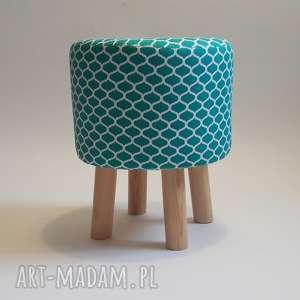 pufa zielone maroco - handmade, puf, taboret, krzesło, stołek, siedzisko, ryczka