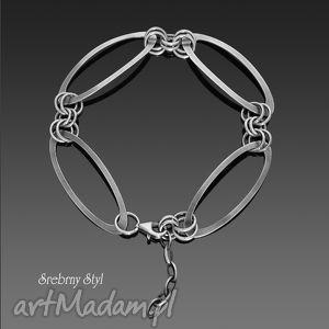 minimalistyczna - ,srebro,minimalistyczna,klasyczna,elegancka,oksydowana,owale,