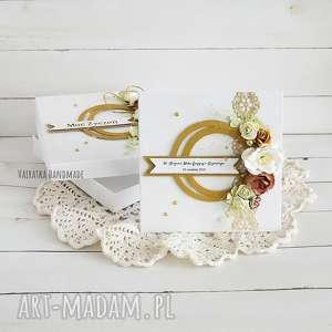 vairatka-handmade złote gody - kartka w pudełku - rocznica ślubu