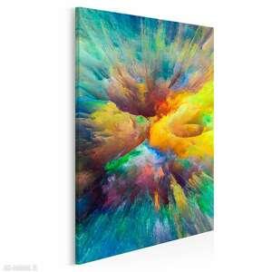 obraz na płótnie - kolory abstrakcja sztuka w pionie 50x70 cm (83203)